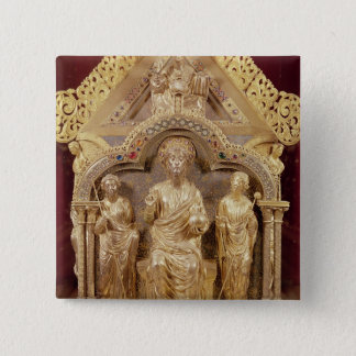 Our Lady's Shrine of Notre-Dame de Tournai 15 Cm Square Badge