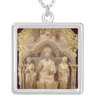 Our Lady's Shrine of Notre-Dame de Tournai Silver Plated Necklace