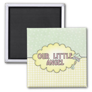 Our Little Angel 2 Square Magnet
