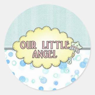 Our Little Angel 3 Round Sticker