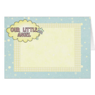 Our Little Angel Yellow Greeting Card