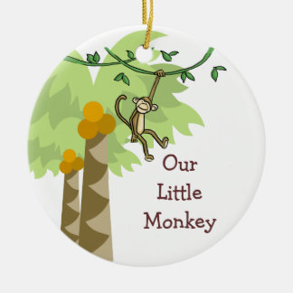 Our Little Monkey Personalized Photo Baby Christmas Ornament