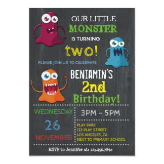 OUR LITTLE MONSTER BIRTHDAY PARTY | KIDS BIRTHDAY CARD