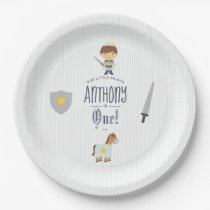 Our Little Prince Birthday Party Paper Plate