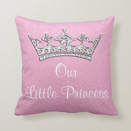 Our Little Princess or Pink Personalised Pillow