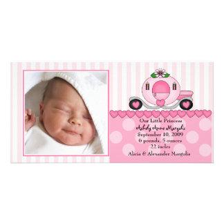 Our Little Princess PHOTO Birth Announcement Card