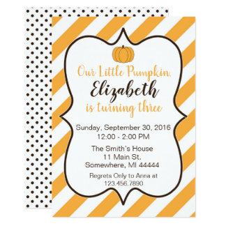 Our Little Pumpkin Birthday Invite
