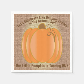 Our Little Pumpkin First Birthday Disposable Napkin