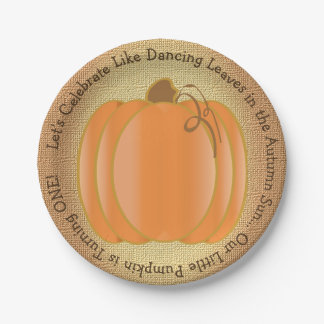 Our Little Pumpkin First Birthday Paper Plate
