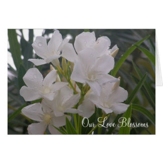 Our Love Blossoms Save The Date Notecard Note Card
