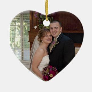 Our Love Custom Photo Wedding Memory  Ornament