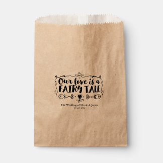OUR LOVE IS A FAIRY TALE Custom Wedding Favor Favour Bags