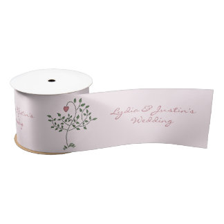 Our Love is Deep Wedding Satin Ribbon