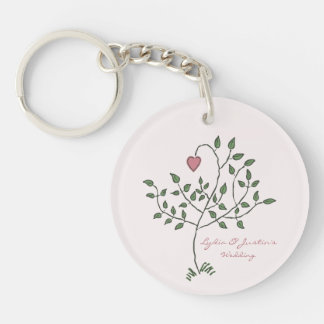 Our Love is Deeply Rooted Double-Sided Round Acrylic Key Ring
