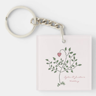 Our Love is Deeply Rooted Double-Sided Square Acrylic Key Ring