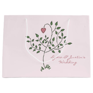 Our Love is Deeply Rooted Wedding Large Gift Bag
