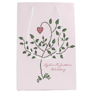Our Love is Deeply Rooted Wedding Medium Gift Bag