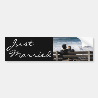 Our Love - Just Married Bumper Sticker