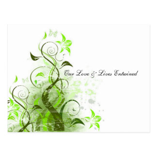 Our Love Lives Entwined Vine RSVP Post Card