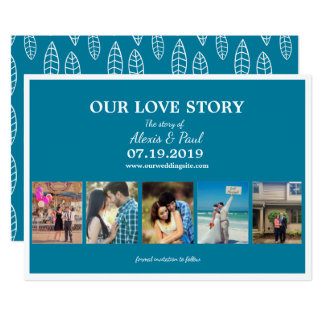Our Love Story Custom Photo Collage Card