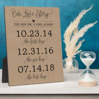 Our Love Story Timeline Wedding Sign Decor