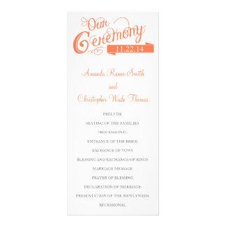 Our Love Story Wedding Program Custom Rack Cards