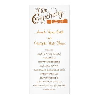 Our Love Story Wedding Program Full Color Rack Card