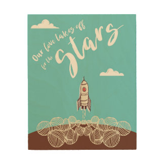 Our love takes off for the Stars Wood Print
