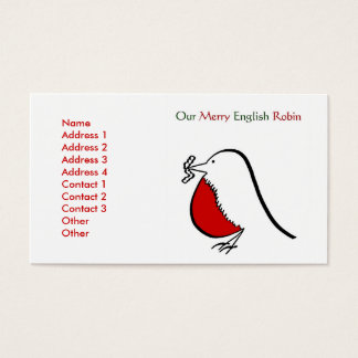 Our Merry English Robin Business Card