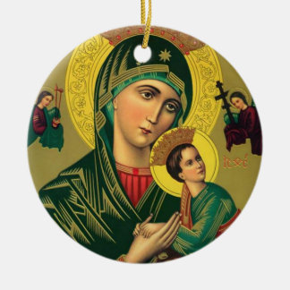 Our Mother of Perpetual Help Jesus Christmas Ornament