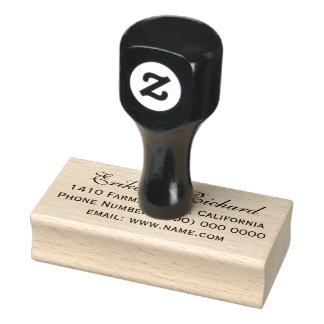 our names wedding return address rubber stamp