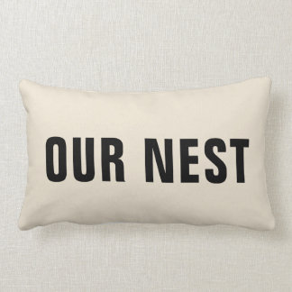 Our Nest Throw Pillow | Rustic Home Decor Gift