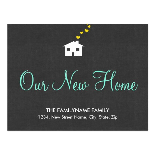 Our New Home Change of Address Postcards