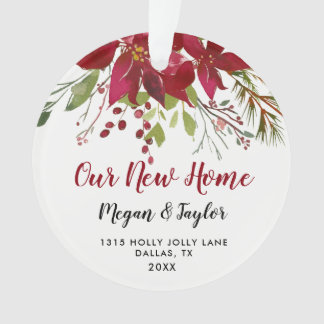 Our New Home Floral Ornament | New Home Gift