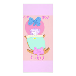 Our New Kitty 10 Cm X 24 Cm Invitation Card