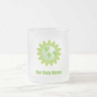 Our Only Home Frosted Glass Mug