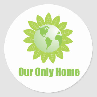 Our Only Home Round Sticker