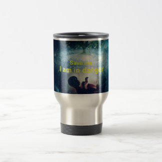 Our planet earth baby in the womb crying for help 15 oz stainless steel travel mug