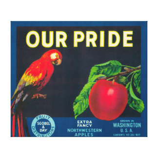 Our Pride Apple Label - Washington State Canvas Print