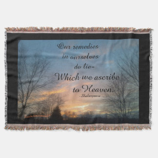 OUR REMEDIES IN OURSELVES SHAKESPEARE THROW