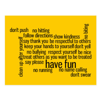 Our School Classroom Rules Postcards