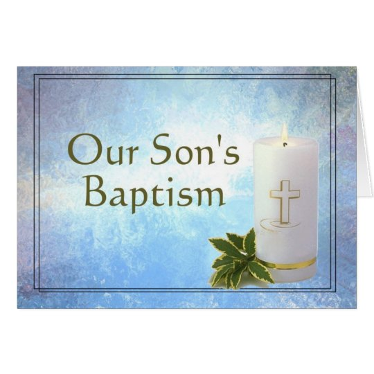 Our Son's Baptism Card
