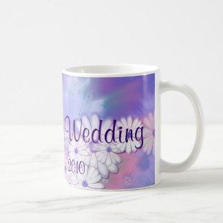 Our Spring Wedding Purple Floral Designs Basic White Mug