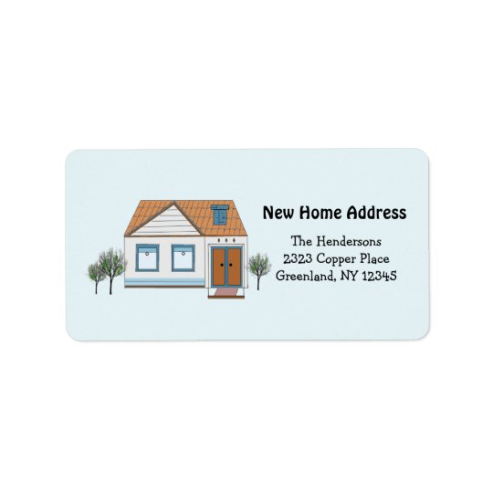 Our Stylish Home New Address Address Label