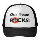 """Our Team Rocks"" Soccer Hat"