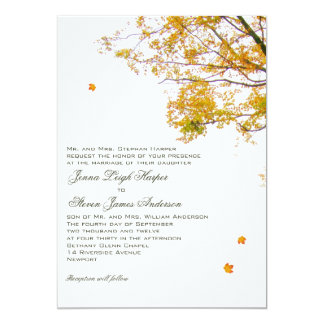 Our Tree in Fall Parents Inviting Wedding 13 Cm X 18 Cm Invitation Card