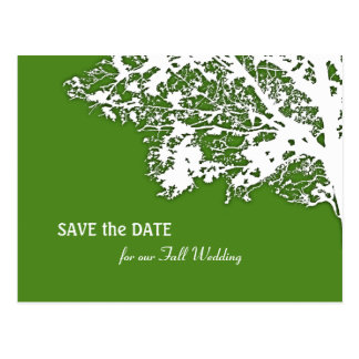 Our Tree Silhouette Save the Date Postcard