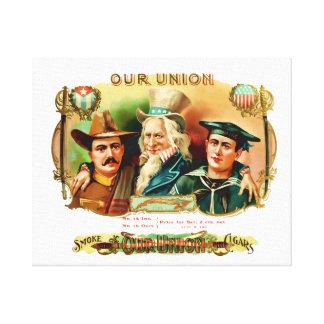 Our Union Vintage Cigar Box Label Canvas Print