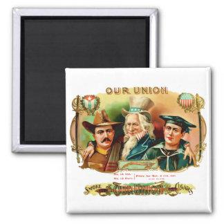 Our Union Vintage Cigar Box Label Square Magnet