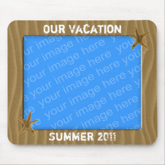Our Vacation Photo Frame Mouse Pad